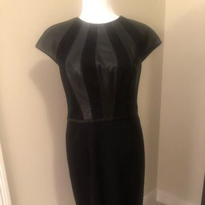 Sexy Escada dress with leather accents